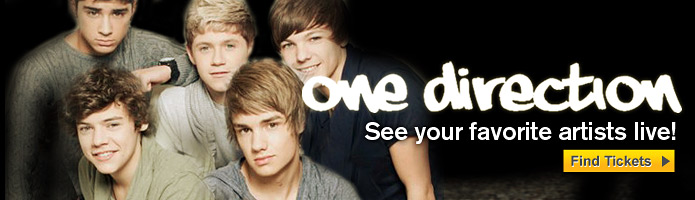 One Direction tickets 2012 2013