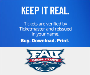 Florida Atlantic University Tickets Verified by Ticketmaster