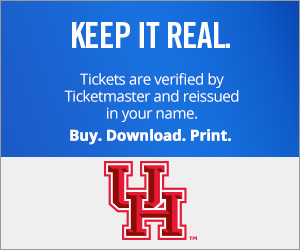 University of Houston Cougars Tickets Verified by Ticketmaster