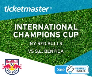 NY Red Bulls vs. S.L. Benfica Tickets Verified by Ticketmaster