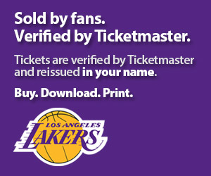 Lakers Tickets Verified by Ticketmaster