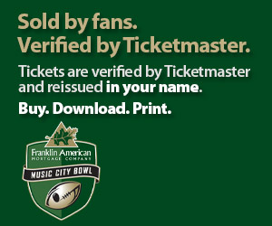 Music City Bowl Tickets Verified by Ticketmaster