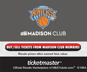 New York Knicks Madison Club Tickets