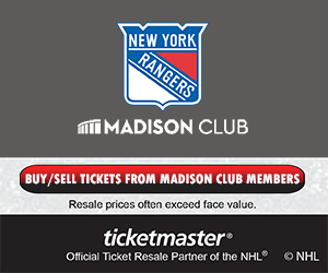 New York Rangers Madison Club Tickets