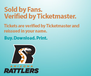 Arizona Rattlers Tickets Verified by Ticketmaster