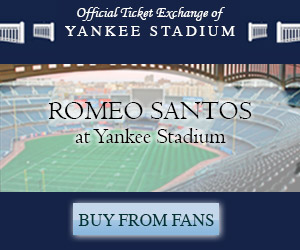 Click here for tickets to Romeo Santos at Yankee Stadium
