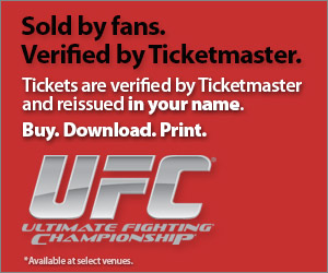 UFC Tickets Verified by Ticketmaster