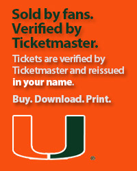Miami Hurricanes Tickets Verified by Ticketmaster