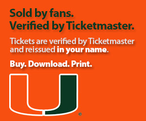 University of Miami Tickets Verified by Ticketmaster
