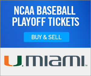 Miami Hurricanes Baseball Tickets Verified by Ticketmaster